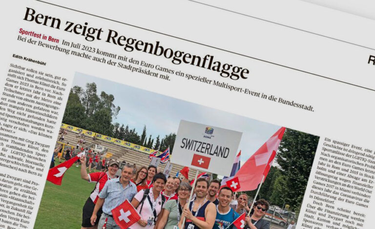 First media coverage of EuroGames Bern