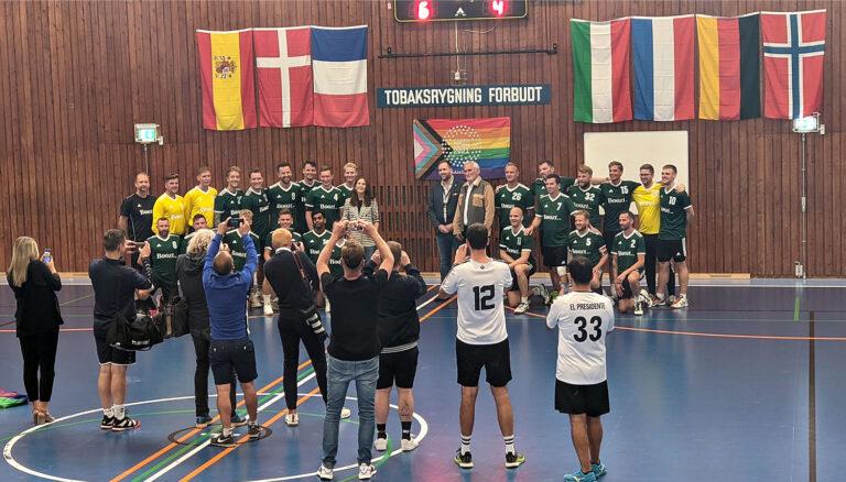 Royalty at Copenhagen's handball tournament